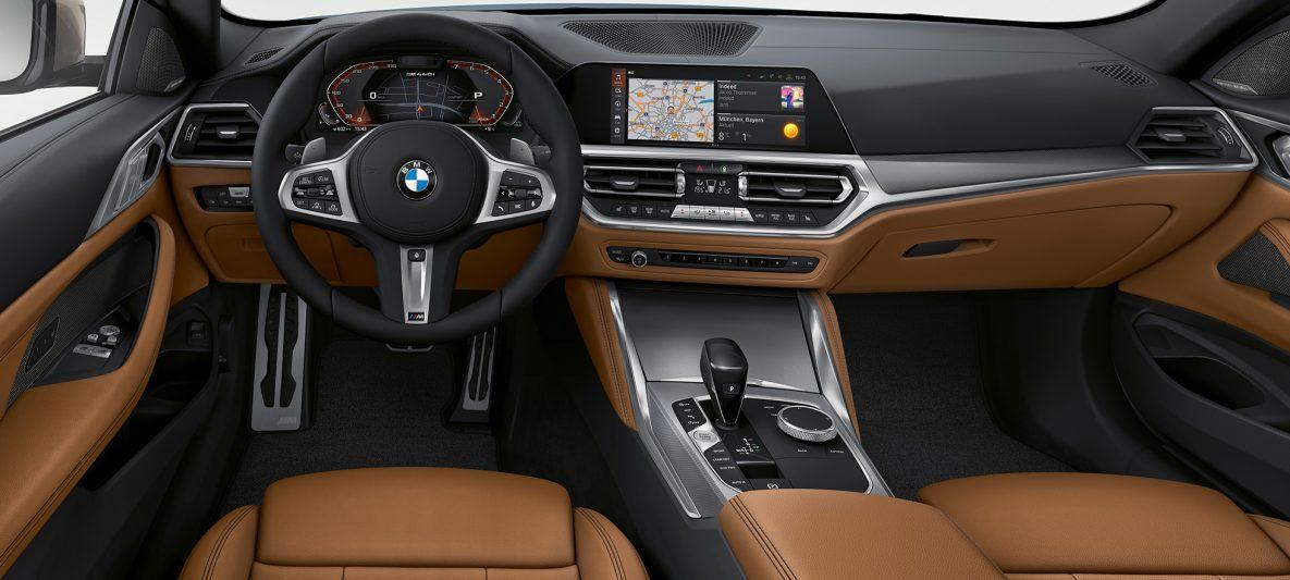 BMW 4er Coupé G22 2020 Innenraum Cockpit