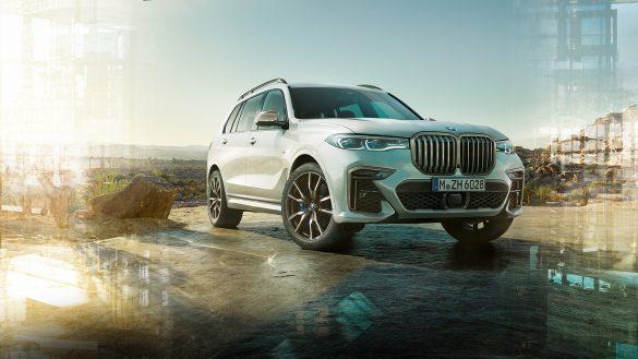 BMW X7 M50d Front Mineralweiß
